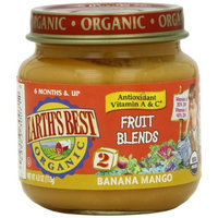 Earth's Best Organic Fruit Blends Baby Food, Banana Mango, 4 Ounce (Pack of 12)