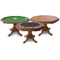 Hathaway Games Hathaway Kingston Dark Oak 3-IN-1 Poker Table