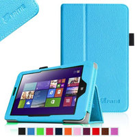 Fintie Lenovo IdeaTab Miix 2 8 Tablet Windows 8.1 Folio Case Cover - Premium Leather With Stylus Holder, Blue