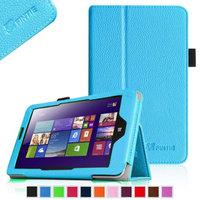 Fintie Lenovo IdeaTab Miix 2 8 Tablet Windows 8.1 Folio Case Cover - Premium Leather With Stylus Holder, Blue