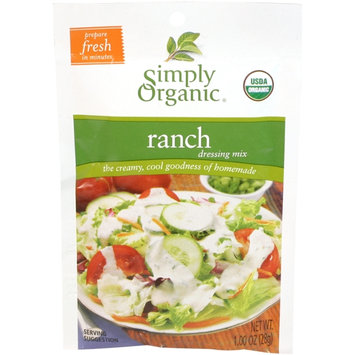 Simply Organic Certified Organic Ranch Salad Dressing