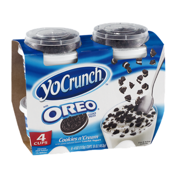 YoCrunch Cookies n' Cream Lowfat Yogurt with Oreo Cookie Pieces