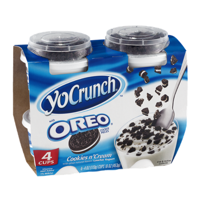 YoCrunch Cookies n' Cream Lowfat Yogurt with Oreo Cookie Pieces
