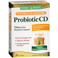 Nature's Bounty Probiotic CD Controlled Delivery, Caplets, 30 ea