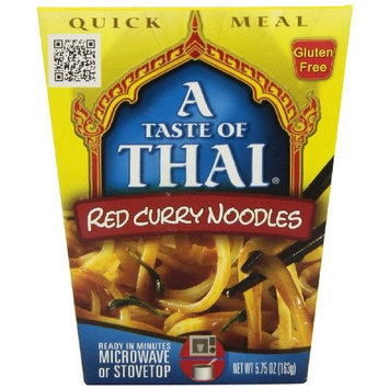 A Taste of Thai Red Curry Noodles Quick Meal, 5.75-Ounce Boxes (Pack of 6)
