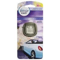 Febreze 2 mL (0.06 FL OZ) Car Vent Clips Air Freshener and Odor Eliminator, Vanilla & Moonlight Scent