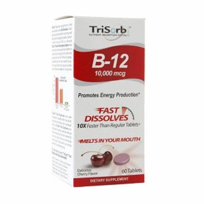 Healthy Natural Systems TriSorb Vitamin B-12 10,000mcg, Cherry, 60 ea