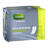 Depend For Men Maximum Absorbency Guards - 52 CT