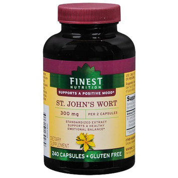 Finest Nutrition St. John's Wort 300 mg Dietary Supplement Capsules