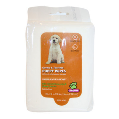 Top Paw Gentle & Tearless Vanilla Milk & Honey Puppy Wipes
