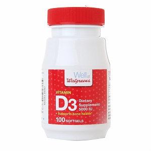 Walgreens Vitamin D3 5000 IU