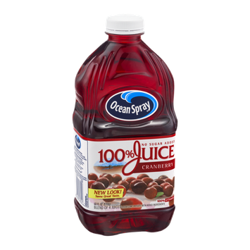 Ocean Spray 100% Juice with No Sugar Added Cranberry