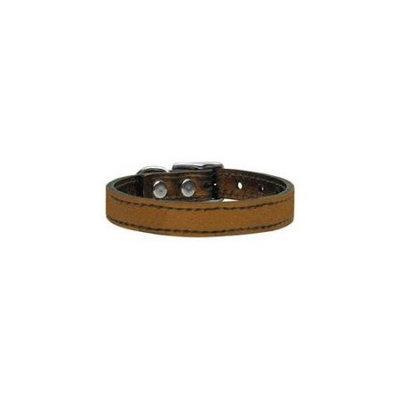 Ahi Plain Metallic Leather Bronze 14
