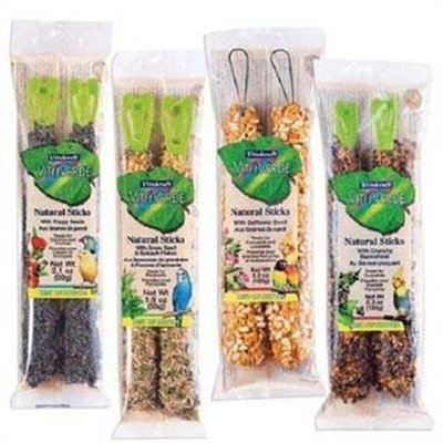 Vitakraft Natural Parakeet Bird Sticks Grass Sd and Spinach
