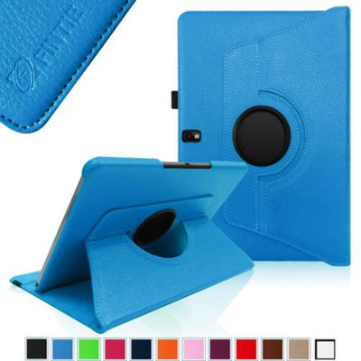 Fintie Vegan Leather 360 Degree Rotating Case Cover for Samsung Galaxy Note 10.1 2014 Edition Android Tablet, Blue