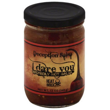 Deception Salsa I Dare You Wickedly Hot Salsa, 12 oz, (Pack of 6)
