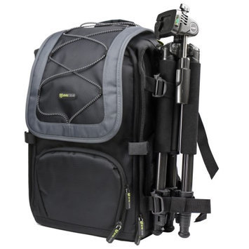 Evecase Black and Gary Camera Large DSLR Backpack for Sony SLT-A58, A99, A37, A57, A77, A65, A35, A33, A55, HX100V, DSLR-A580, A560, A390, A290, A850, A550, A38