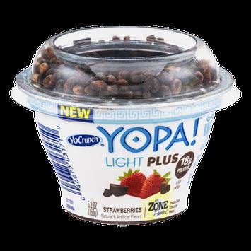 YoCrunch Yopa! Light Plus Greek Nonfat Yogurt Strawberries with Zone Perfect Double Dark Chocolate Pieces