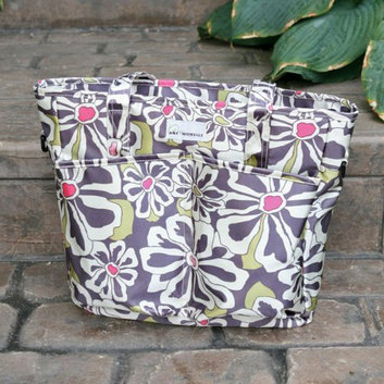 Amy Michelle New Orleans Go Bebe Diaper Bag - Charcoal Floral