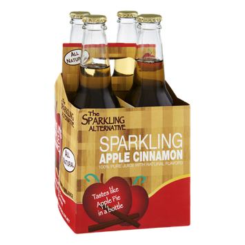 Alpenglow The Sparkling Alternative Sparkling Apple Cinnamon 100% Pure Juice - 4 CT