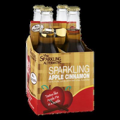 Alpenglow The Sparkling Alternative Sparkling Apple Cinnamon 100% Pure Juice - 4 CT