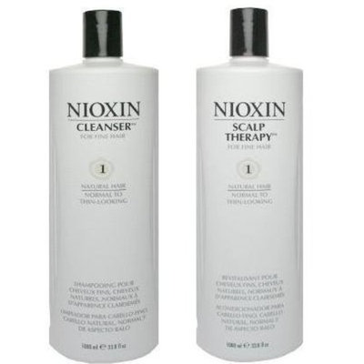 Nioxin® Nioxin System 1 Cleanser & Scalp Therapy Duo Set for Normal to Thin-looking Hair 33.8 oz (1 Liter)