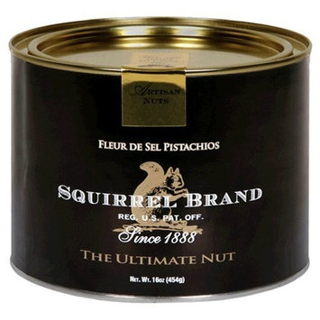 Squirrel Brand Nuts, Fleur de Sel Pistachios, 16-Ounce Cans (Pack of 2)