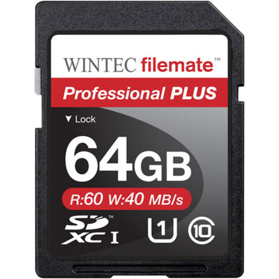 FileMate Wintec Filemate Professional Plus 64GB SDHC UHS-1 Memory Card Class 10