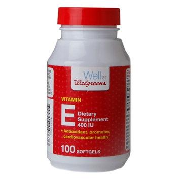 Walgreens Vitamin E 400 IU Dietary Supplement Softgels