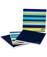 Fiesta Set of 4 Cobalt Stripe Coasters