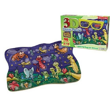 Patch Products 3D Sneaky Puzzle - Lightning Bugs All Around: 46 pc Ages 3 and up, 1 ea