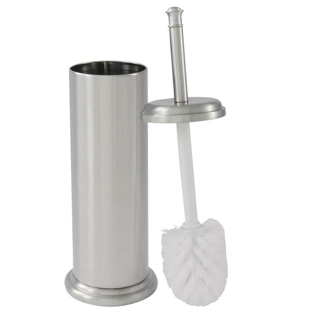 Ldr Industries Inc Exquisite Toilet Brush and Canister Brushed Nickel Finish