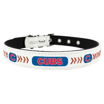 GameWear Chicago Cubs Classic Leather Medium Baseball Collar