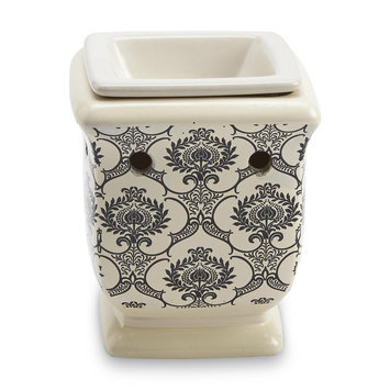 Langley Products L.l.c. Ceramic Plug-In Fragrance Warmer - Ivory Damask
