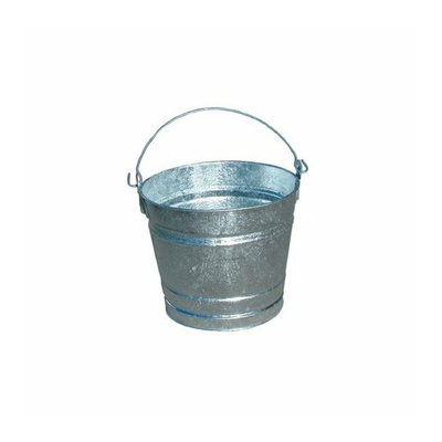 Magnolia Brush Galvanized Pails - 24.04qt galvanized pailhot dipped (Set of 12)