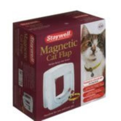 Staywell S-400 Magnetic Cat Flap - White