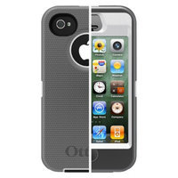 Otterbox Defender Cell Phone Case for iPhone4/4S - White/Gray (77-
