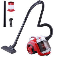 Yescomusa Oem Bagless Canister vacuum Cleaner 3L 1300W Multi Floor Cleaner Home Bedroom Red