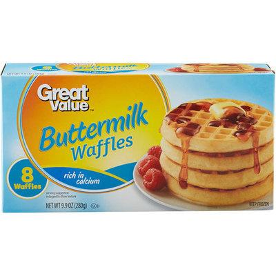 Great Value: Buttermilk Waffles, 9.9 Oz