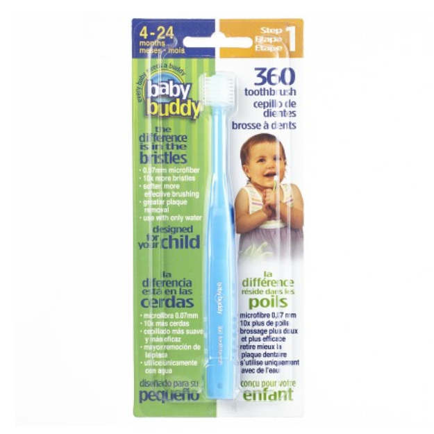 Baby Buddy 360 Toothbrush Step 1, Blue, 1 ea