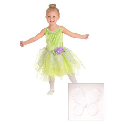 Little Adventures Tinkerbell Dress With White Wings L