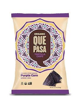 Que Pasa TORT CHIPS, OG2, PURP CORN, (Pack of 12)