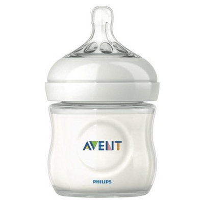 Philips Avent BPA Free Natural 4 Ounce Polypropylene Bottle, 1-Pack