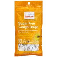 Walgreens Sugar Free Cough Drops, Honey Lemon, 25 ea