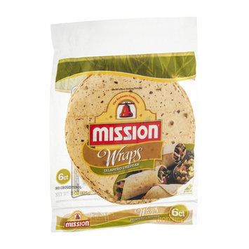Mission Wraps Jalapeno Cheddar - 6 CT