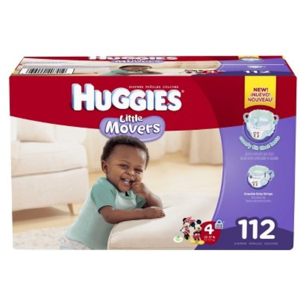 Huggies Little Movers HUGGIES Little Movers Diapers Giant Pack - Size 4 (112 Count)