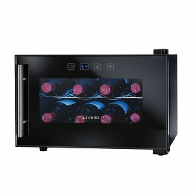 Nostalgia Electrics Living by Nostalgia 8-BOTTLE Wine Cooler, Black, 1 ea