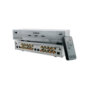 Nyrius SW201 HD Component Video Digital Audio Optical Toslink 3 Input Selector Switch