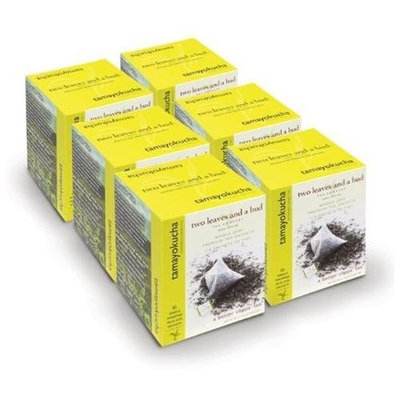 Two Leaves and a Bud Organic Tamayokucha Green Tea, Tea Bags, 15-Count Boxes (Pack of 6)