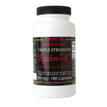 Healthy Origins Triple Strength Razberi-K Raspberry Ketones 300mg, Capsules
